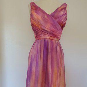 Coral Purple Short cocktail Dress bridesmaid party